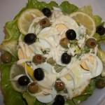 Majonézes saláta tojással olívabogyókkal 1