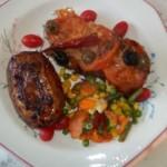 Mediterrán csirkemell paradicsommal mozzarellával 2