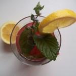 Mentás görögdinnye koktél vodkával 1