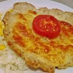 Mozzarellával és paradicsommal sütött csirkelángos 2