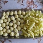 Rántott csirkemell krumplikrokettel 1