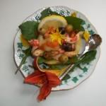 Sárgadinnye rákkal kagylóval és brandyvel