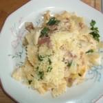 Sonkás tészta reszelt sajttal 1
