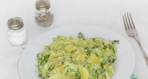 Spárgakrémes tészta