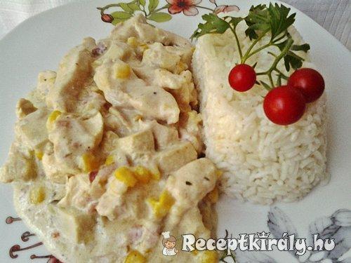 Tejszínes gombás kukoricás csirkemell 2