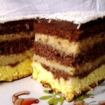 Tejszínes kávékrémes süti 2