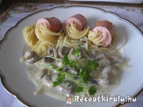 Virsliben főtt spagetti