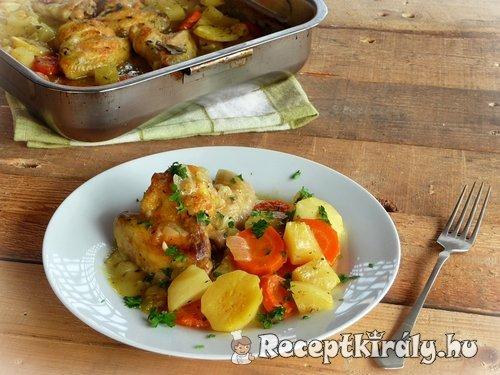 Zöldséges csirkeszárnyak