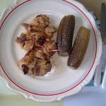 Baconös sertéshús sült krumplival ecetes uborkával 1