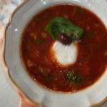Bazsalikomos petrezselymes ratatouille leves mozzarellával 1