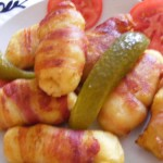 Burgonyás tészta baconban sütve 1