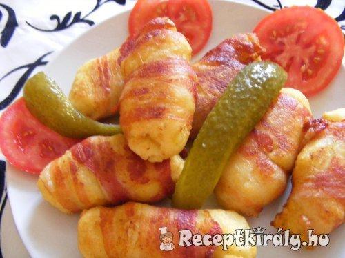 Burgonyás tészta baconban sütve 2