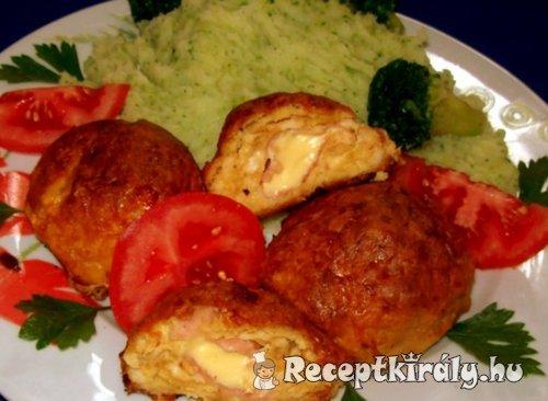 Csirkefasírt pogácsák