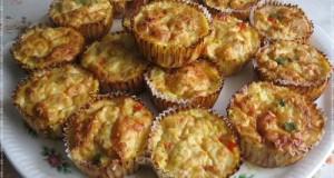 Csirkemellből fasírt muffin formában