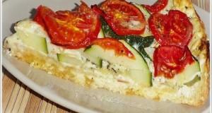 Cukkinis sajtos pite