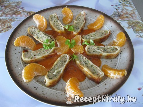 Darált húsos táskák mandarinnal 1