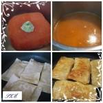 Darált húsos táskák mandarinnal