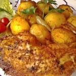 Fűszeres csirkecombok vele sült burgonyával 2