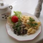 Fehérboros tejfölös borsos resztelt gomba tésztával 3