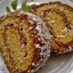 Kókuszos kakaós keksztekercs