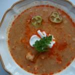 Karfiolleves csipetkével tejföllel fehérborral 1
