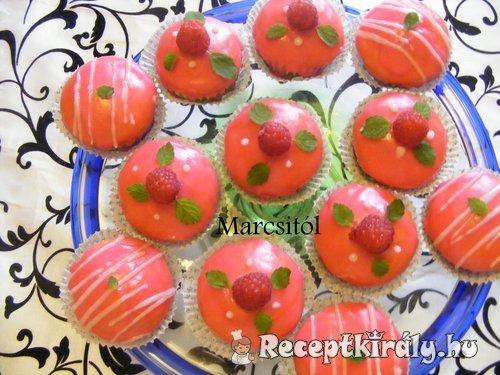 Málnás muffin 3