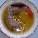 Pulykanyak húsleves orsótésztával 1