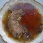 Pulykanyak húsleves orsótésztával 2