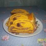 Sütőtökös kakaós csíkos kalács 1