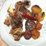 Sertésmáj makói módon sült krumplival 1