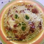 Sonkás sajtos spagetti