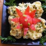 Tejfölös sajtos karfiol 1