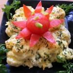 Tejfölös sajtos karfiol 2