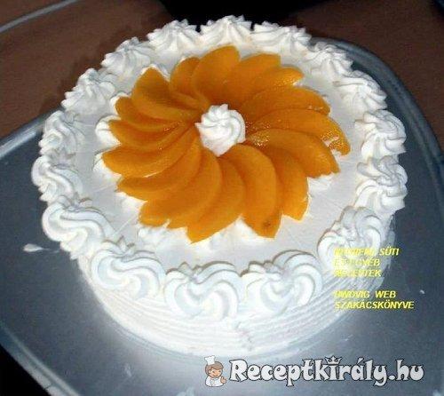 Tejszínes csokis vanílía krémes torta