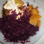 Tepsis rakott krumpli lilakáposztával 1