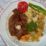 Vörösboros resztelt borjúmáj sós krumplival 1