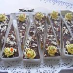 Vaníliás torta szelet
