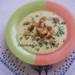 Zellerkrém leves 1