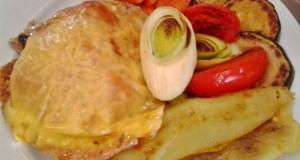 Óvári csirkemell sült zöldségekkel