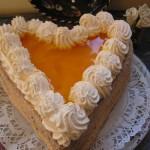 Barackos túrós szív torta 1
