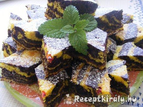 Csokis citromos zebracsikos szelet
