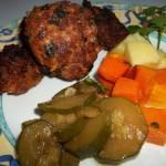 Fasírt krumplival cukkinival sült sütőtökkel 1