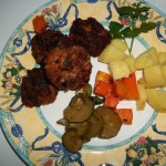 Fasírt krumplival cukkinival sült sütőtökkel 2