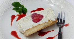 Fehér csokoládés epres marquise
