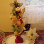 Gyümölcs karácsonyfa 1