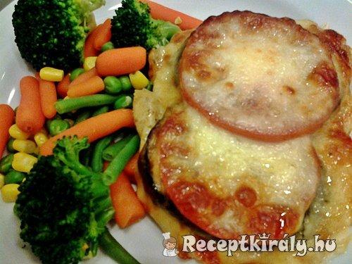 Padlizsános paradicsomos csirkemell mozzarellával sütve 1