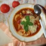 Peperonata levesesen gombás tortellinivel 2