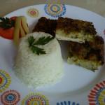 Petrezselymes csirkelepény párolt rizzsel 1