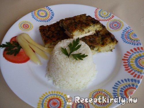Petrezselymes csirkelepény párolt rizzsel 2