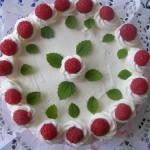 Sütés nélküli málna torta 1